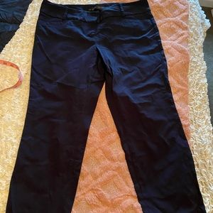 Limited Navy Ankle Length Ideal Stretch Pants 14